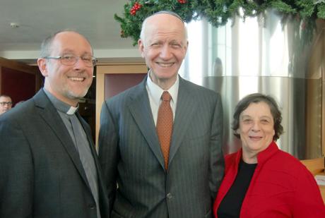 Rav Greenberg e Signora con Don Cristiano Bettega