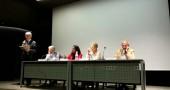 Da sinistra:  Ferruccio de Bortoli, Presidente della Fondazione Memoriale della Shoah di Milano, il Senatore Manconi, Seble Woldeghiorghis, Liliana Segre, testimone della Shoah, e Gad Lerner.