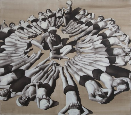 Barbara Nahmad, Summer Camp, 150×170 cm, 2012