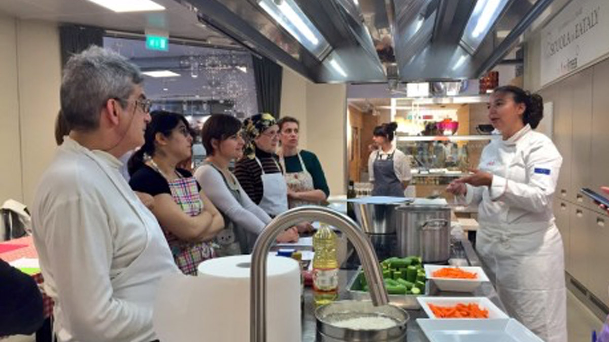 Jewish in the city #150. a eataly si impara a cucinare kasher mosaico