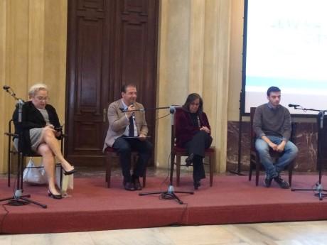 Da sinistra Clelia Piperno, Ruggero Gabbai, Daniela Hamui, Ariel Nacamulli e Aldo Bonomi