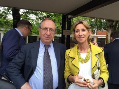 Il co-presidente della Comunità Ebraica di Milano Raffaele Besso insieme a Giovanna Boggio Robutti, direttore generale della Feduf