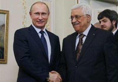 Abu Mazen con il presidente russo Vladimir Putin