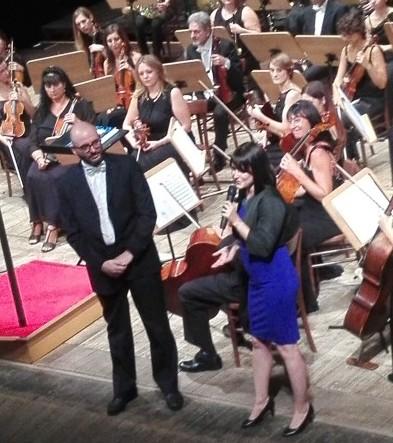 Emiliano Facchinetti, presidente della Filarmonica della Franciacorta, insieme ad Avital Kotzer Adari