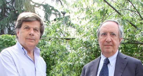 Da sinistra, Milo Hasbani e Raffaele Besso, presidenti della Comunità Ebraica di Milano