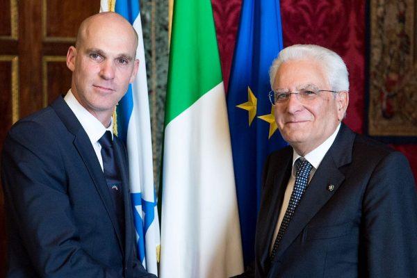 Ofer Sachs con il presidente Sergio Matarella