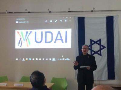 Angelo Pezzana all'evento sull'informazione su Israele