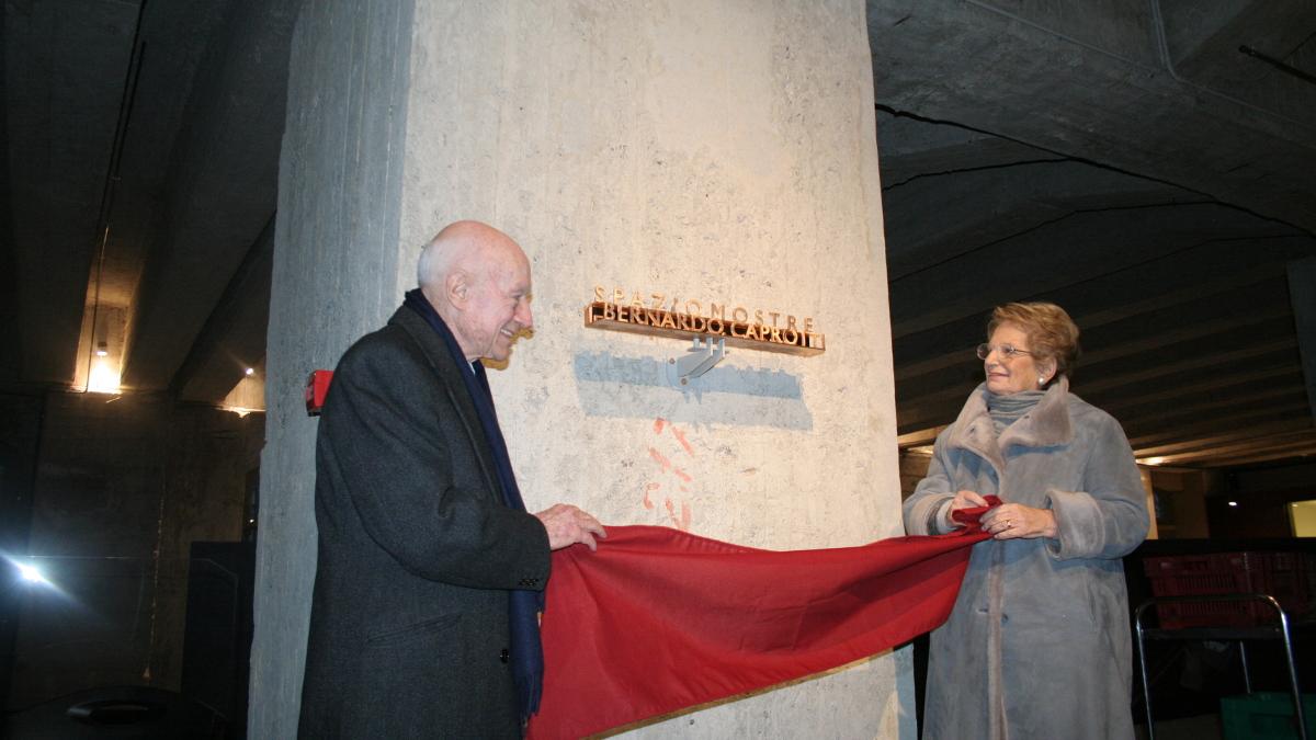 Lilaina Segre e Bernardo Caprotti durante l'inaugurazione dell'Auditorium Caprotti