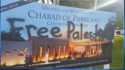 La sinagoga di Parkland vandalizzata la notte di Rosh ha Shanà