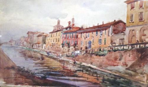 I Navigli di Milano ritratti da Manfredo D'Urbino