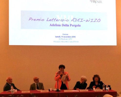 Un momento della premiazione a Firenze lo scorso 14 novembre