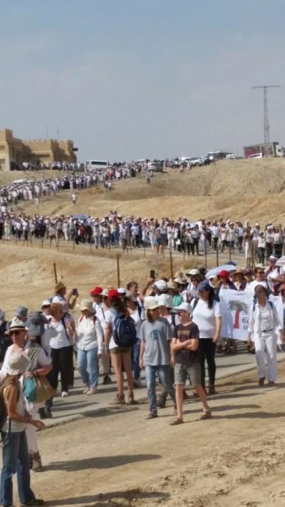 Un'immagine della Marcia per la Pace