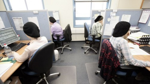 Done ortodsse al lavoro in una start-up israeliana (fonte:Times of Israel)