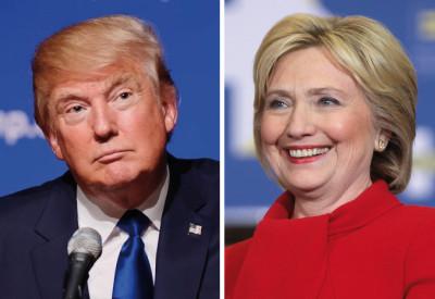 I candidati alla presidenza degli Usa Donald Trump e Hillary Clinton