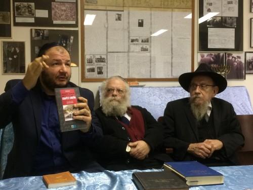Da sinistra Roberto Zadik, Rav Rodal e Rav Lazar