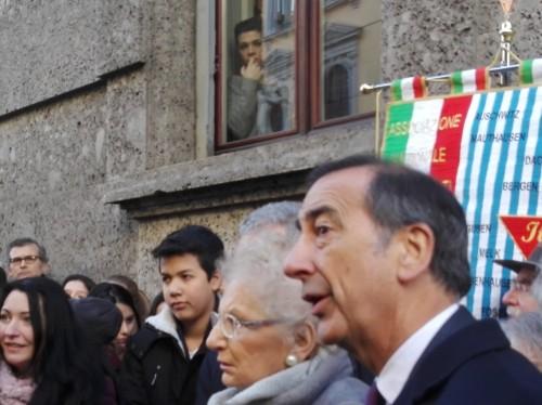 Il sindaco di Milano Giuseppe Sala e Liliana Segre
