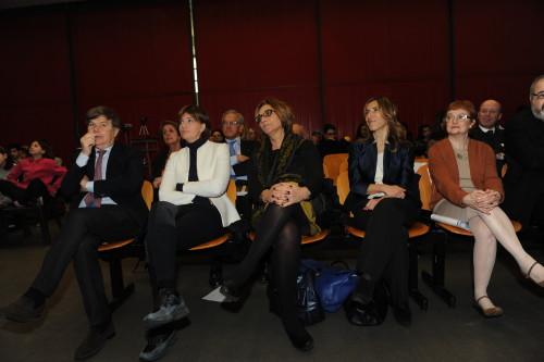 Da sinistra Milo Hasbani, l'on. Lara Comi, Livia Ottolenghi, Karen Nahum ed Esterina Dana