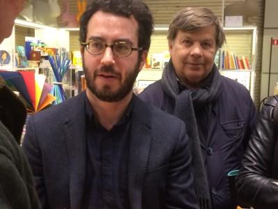 Jonathan Safran Foer e Milo Hasbani, copresidente della Comunità ebraica di Milano