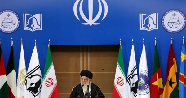 L'ayatollah Ali Kamenei alla conferenza sulla questione palestinese