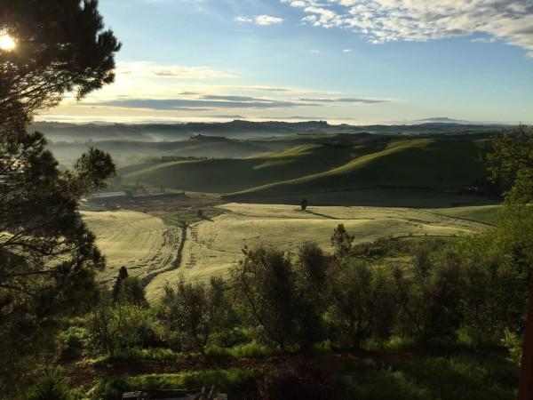 Il panorama dalla Cantina Giuliano