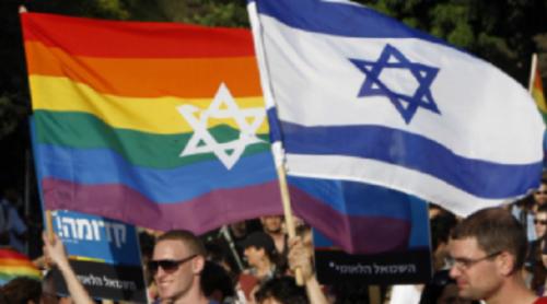 La comunità lgbt a un gay pride in Israele