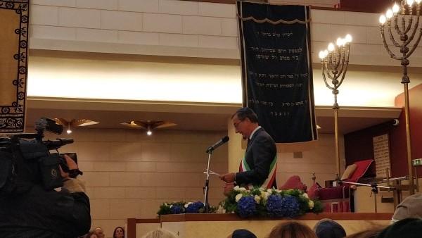 Il sindaco di Milano Giuseppe Sala nella sinagoga di Milano per la Giornata europea della cultura ebraica