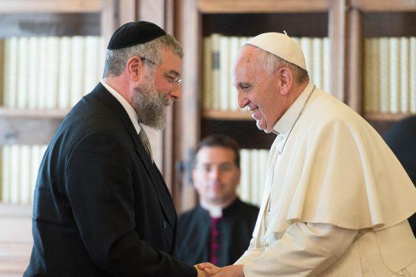 Rav Pinchas Goldschmidt e papa Francesco