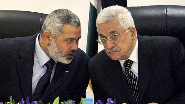 I due leader di Hams e Fatah