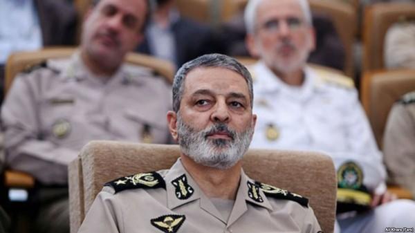 Il Generale iraniano Abdolrahim Mousavi, comandante dell'esercito iraniano