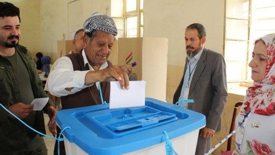 Urna elettorale per l'indipendenza del Kurdistan iracheno