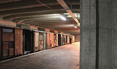 Il cantiere del Memoriale della Shoah alla Stazione Centrale di Milano [foto Ester Moscati]