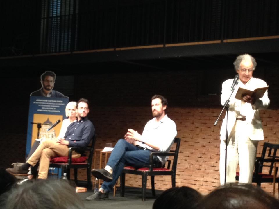 Jonathan Safran Foer al Teatro Franco Parenti per la presentazione di Eccomi