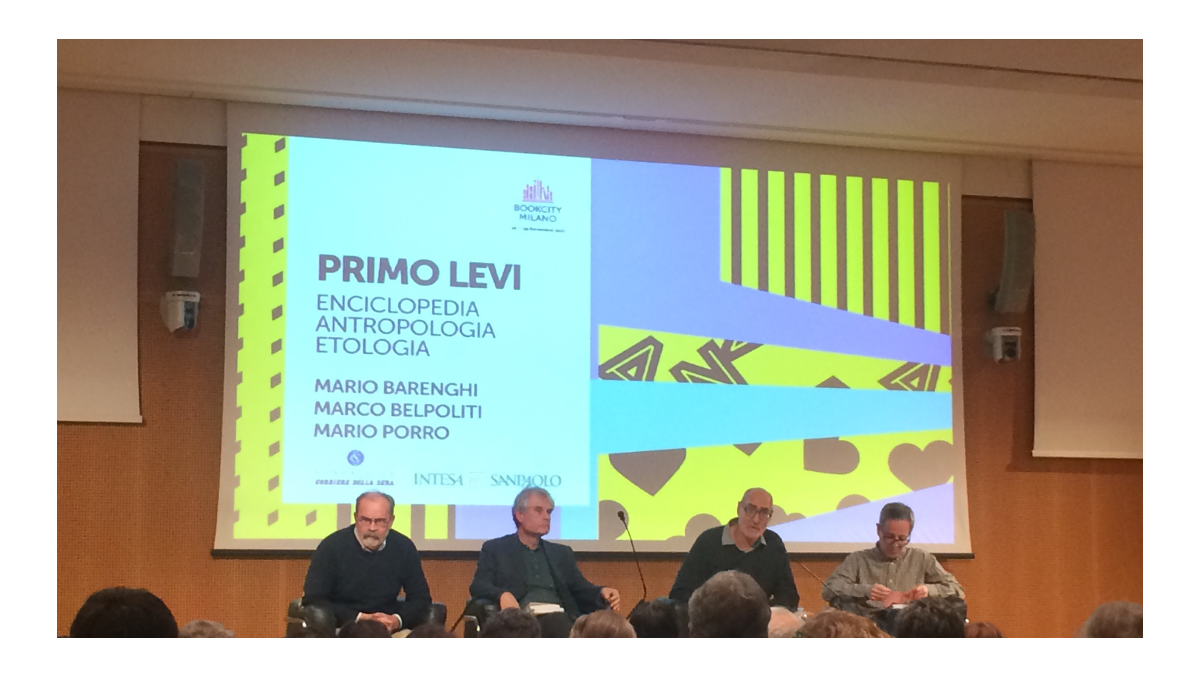 I relatori dell'incontro su Primo Levi alla Sala Buzzati durante BookCity