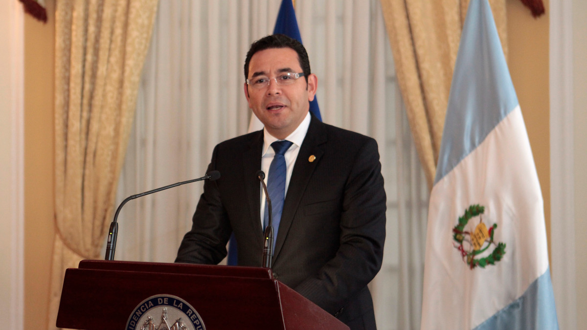 Il presidente del Guatemala, Jimmy Morales