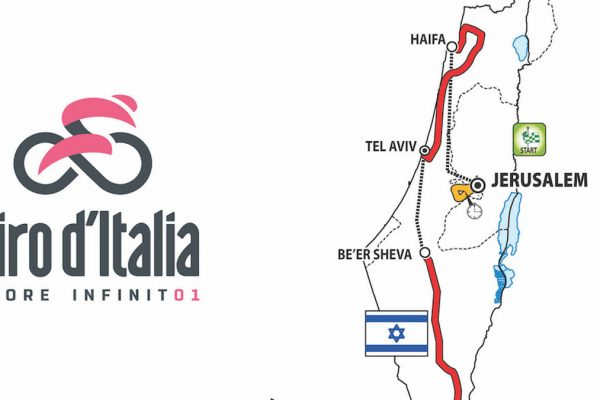 La mappa delle tappe israeliane del Giro d'Italia 2018