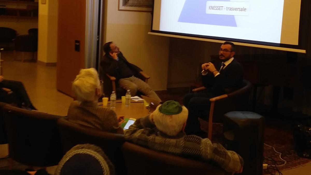 Giovanni Quer alla serata Kesher sulle minoranze in Israele