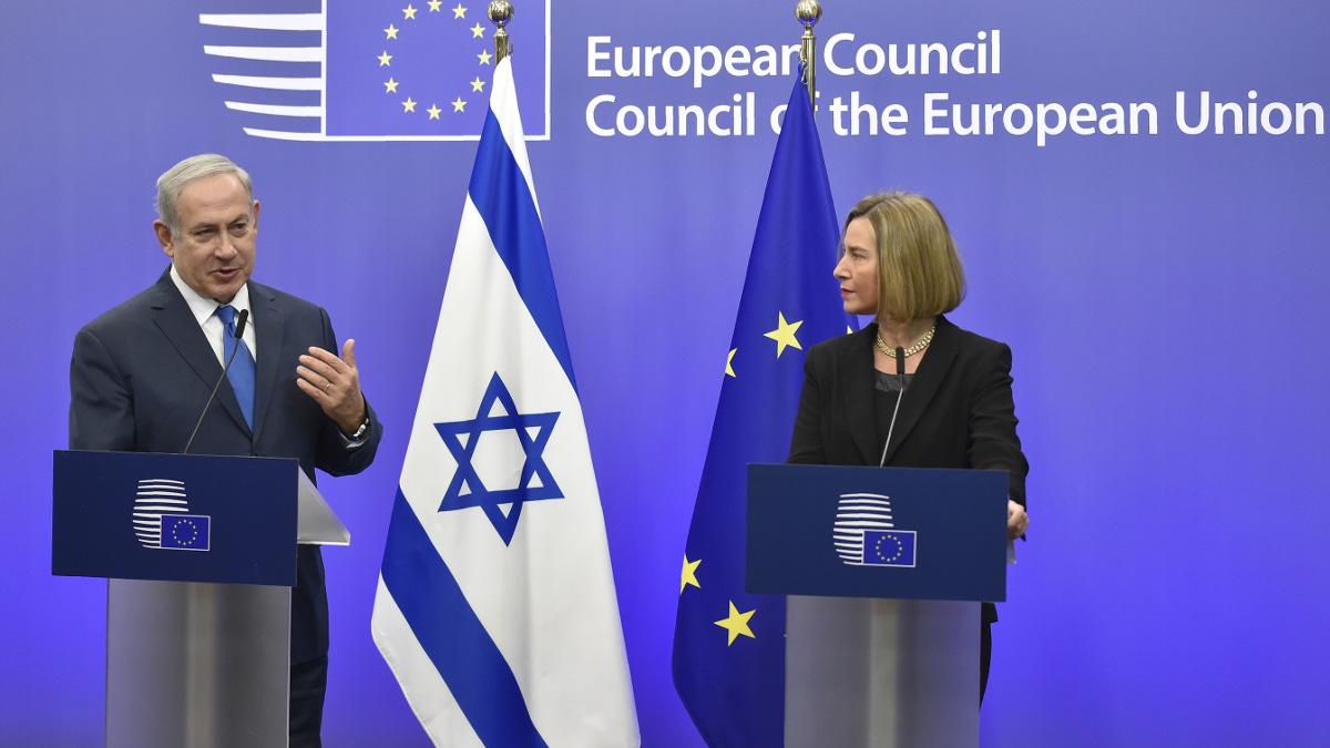 beniamin Netanyahu e Federica Mogherini