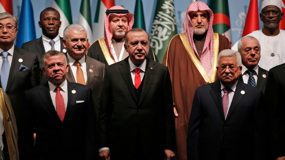 I leader arabi al summit dell'OIC a Istanbul