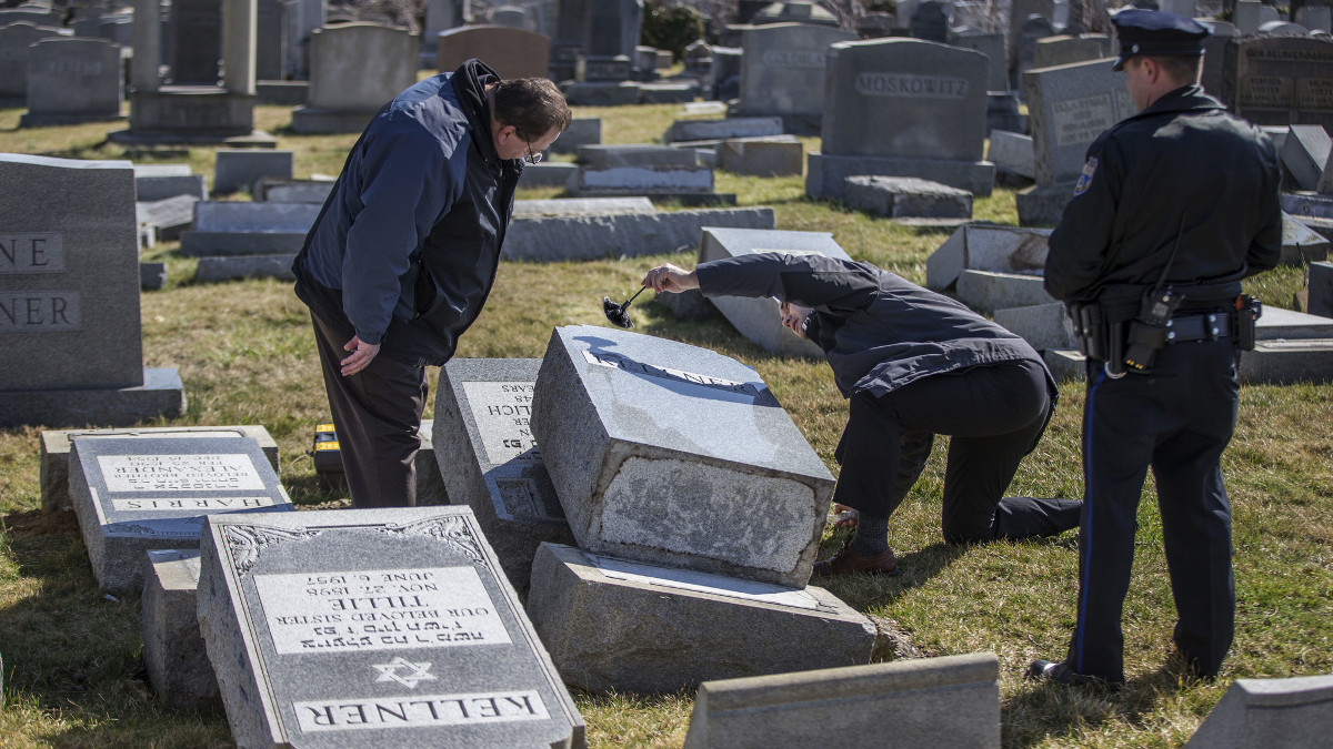 UIl cimitero ebraico di Pancevo, in Serbia, vandalizzato da ignoti
