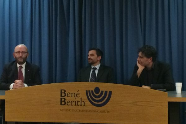 Gli intervenuti alla serata del Bené Berith sul futuro di Gerusalemme