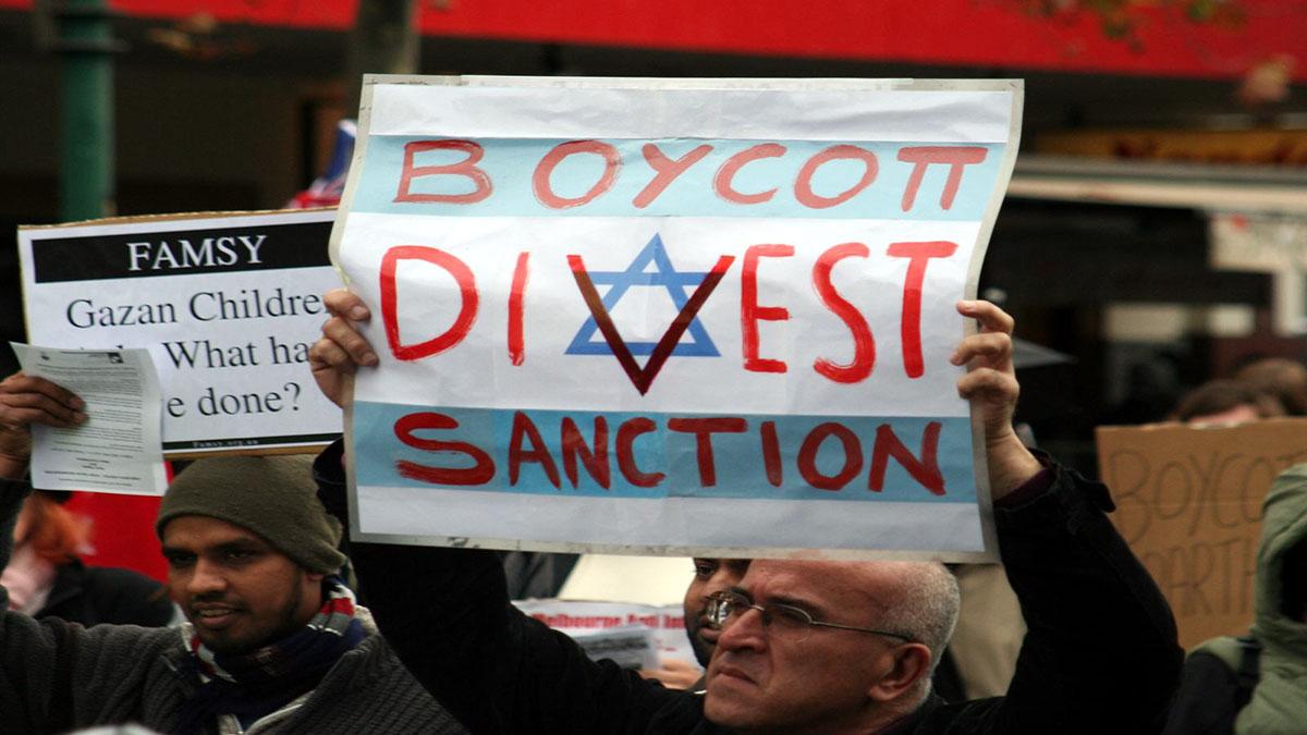 Manifestazione per il boicottaggio di Israele