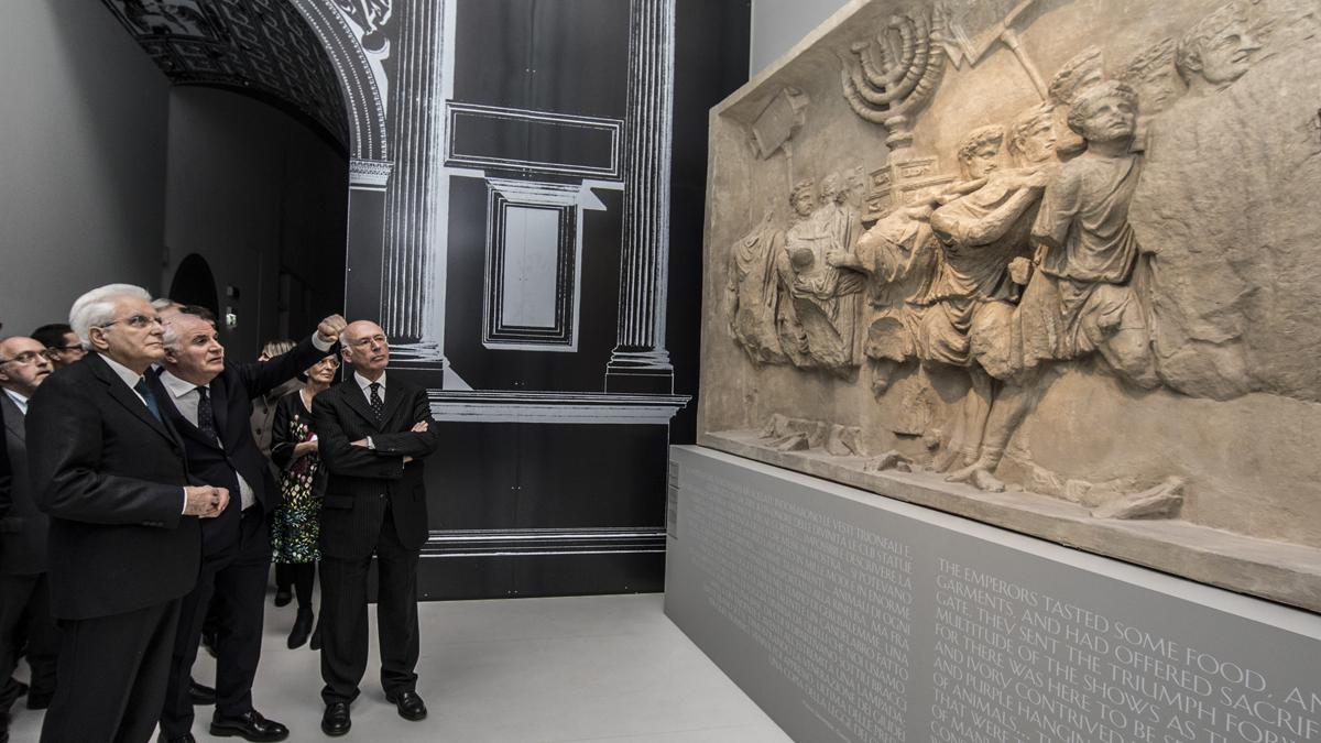 l presidente Mattarella all'inaugurazione del Meis