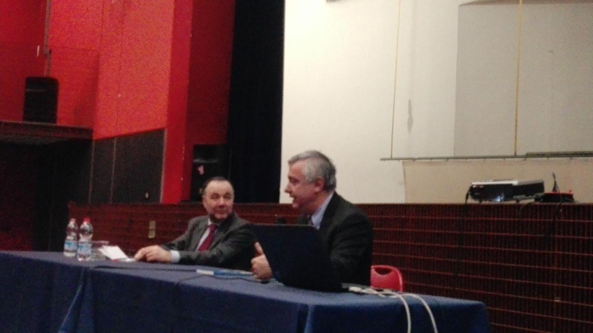 Da sinistra, Rav Roberto Della Rocca e Maurizio Molinari