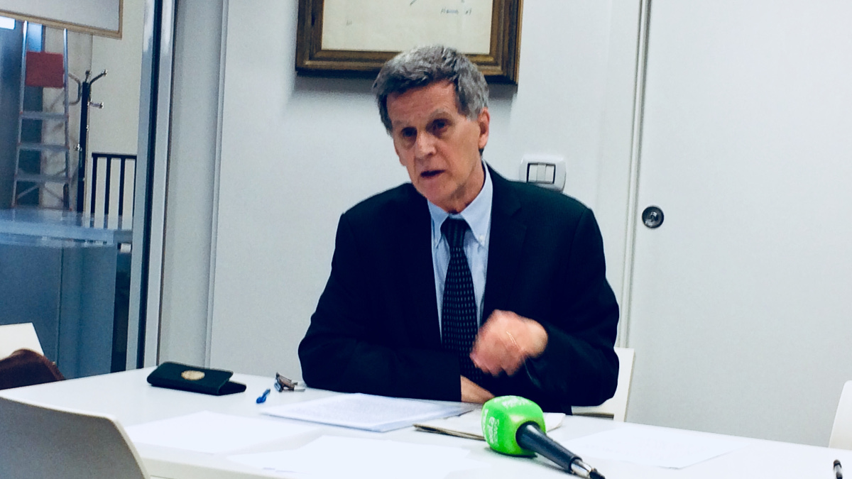 Roberto Cenati, presidente Anpi Provinciale di Milano, alla presentazione del corteo nazionale del 24 febbraio