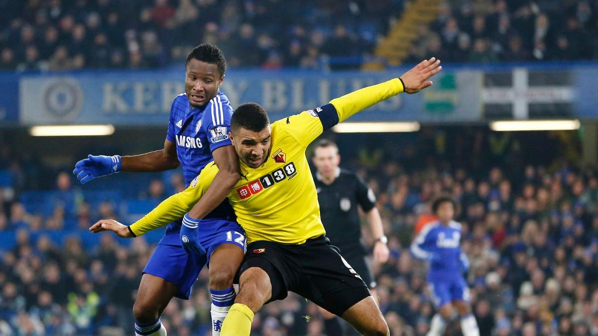 Giocatori del Chelsea durante una partita
