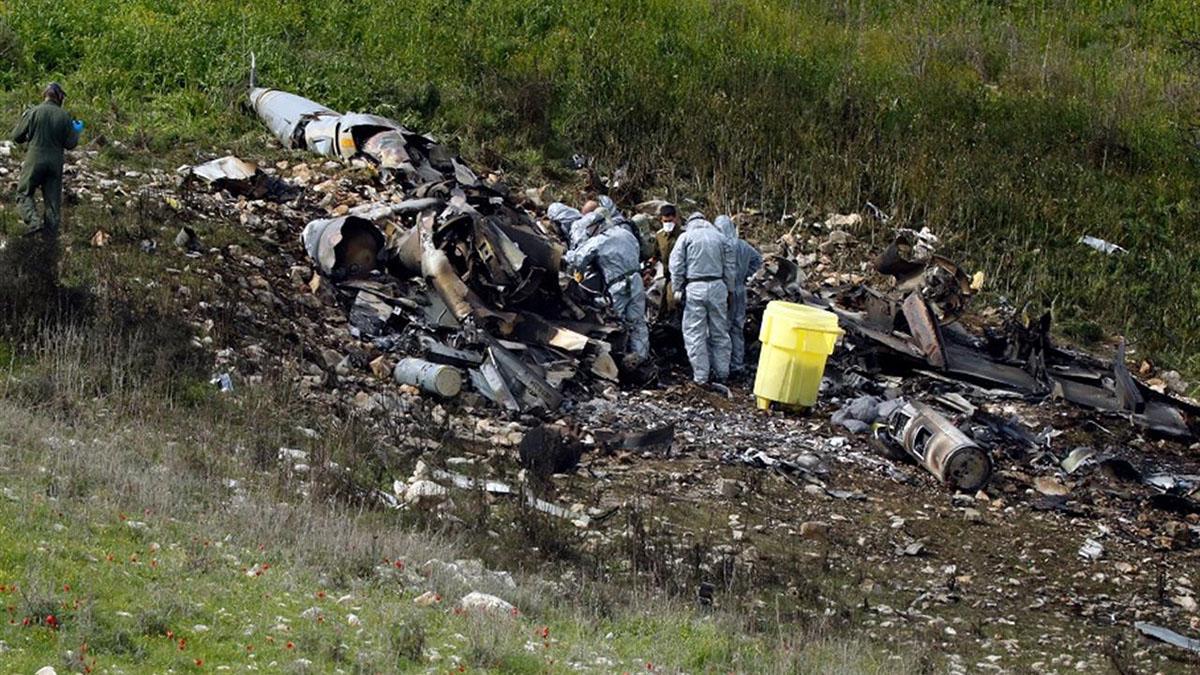 L'F16 israeliano abbattuto dalle forze siriane