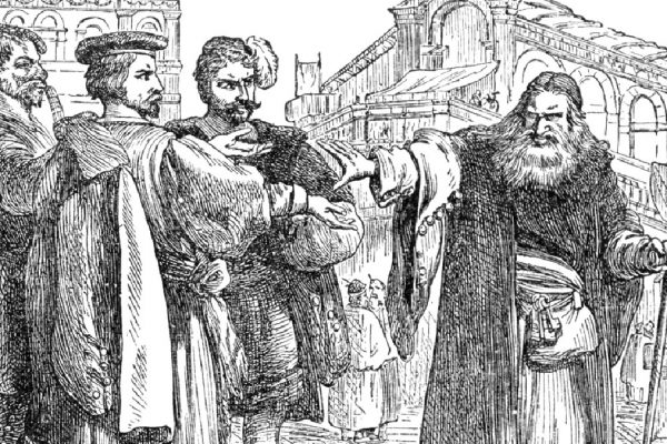 Il Mercante di Venezia in un disegno