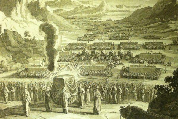 Gli ebrei con il tabernacolo, come descritto nella parashà di Terumà