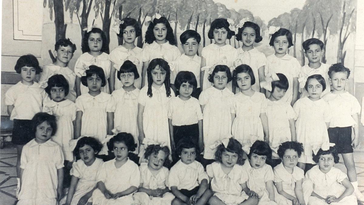 Gli alunni di una scuola dell'Alliance Israelite Universelle di Beirut, 1934
