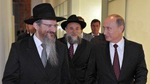 Vladimir Putin con Rav Lazar visita il Museo della Tolleranza a Mosca
